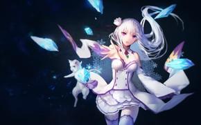 Picture anime, Emilia, Re:Zero kara hajime chip isek or Seikatsu, RE:Zero