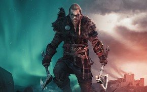 Picture look, background, Warrior, Viking, Assassin's Creed Valhalla