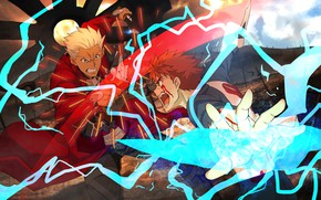 Picture guys, Shiro, Archer, Fate stay night, Fate / Stay Night, a call to arms