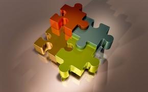 Picture puzzles, fragments, puzzle, puzzle