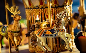 Picture macro, horse, horse, snail, deer, attraction, carousel, riding, horse, entertainment, carousel horses
