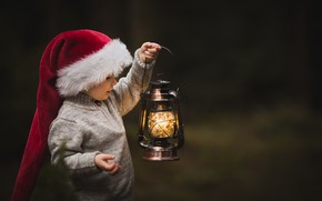 Picture background, lamp, child