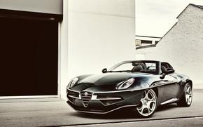 Picture Car, Touring, British racing green, Alfa Romeo Disco Volante Spyder