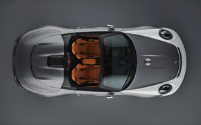 Picture Porsche, the view from the top, 2018, gray-silver, 911 Speedster Concept