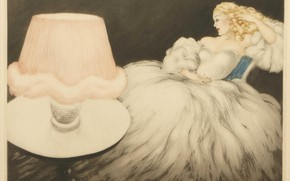 Picture 1948, Louis Icart, Lampshade