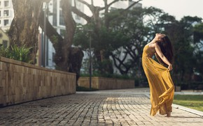 Picture girl, pose, street, Dimitry Roulland, Jerilyn Huang