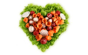 Picture greens, vegetables, heart