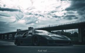 Picture rendering, Auto, Machine, Ferrari F40, Sports car, Graphic, Ferrari F-40, Transport & Vehicles, Red Legend, …