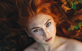 Picture model, redhead, look