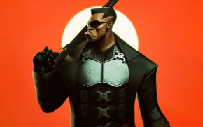Picture Minimalism, Style, Costume, Weapons, Art, Art, The film, Render, Minimalism, Character, Blade, Wesley Snipes, Wesley …