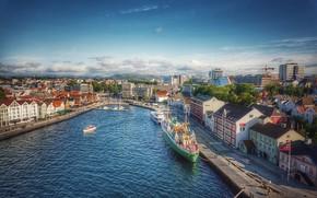 Picture ships, pier, Stavanger, Norvegia