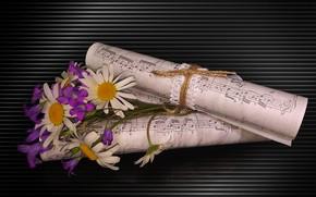 Picture flowers, still life, bells, NOTES, photo Elena Anikina