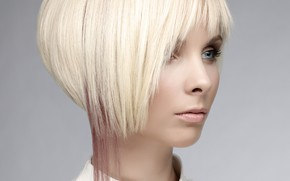 Picture face, style, haircut, makeup, hairstyle, blonde
