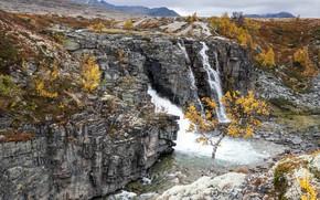 Picture Waterfall, Norway, Rondane, Storulfossen