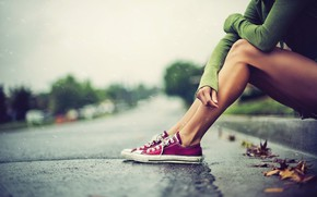 Picture Girl, Rain, Photography, Mood, Converse