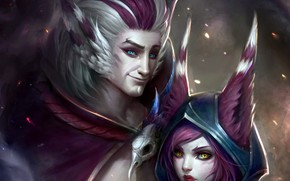 Picture the game, pair, creatures, two, ears, League of Legends, League Of Legends