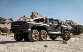 Picture pickup, Rover, Rezvani, 2020, Hercules 6x6