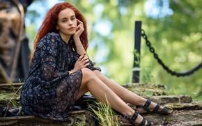 Picture look, girl, pose, hair, dress, Павлюк Александр