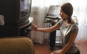 Picture retro, room, girl, Vladislav Opletaev, video