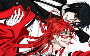 Picture the demon, Reaper, Grell Sutcliff, Kuroshitsuji, Sebastian Michaelis