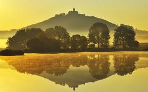 Picture autumn, mountain, Germany, Thuringia, Castle Wachsenburg