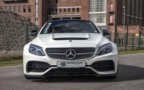 Picture Mercedes-Benz, front view, AMG, Coupe, C63, Widebody, Prior-Design, C-Class, 2017, C205, PD65CC