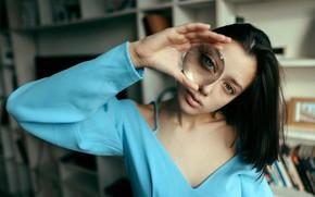 Picture glass, freckles, Juliana Naidenova