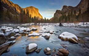 Picture winter, snow, CA, USA, Yosemite, Yosemite National Park