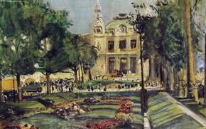 Picture picture, the urban landscape, 1929, Lucien Adrion, Lucien Adrion, Casino Monte Carlo