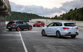 Picture asphalt, Seat, 2015, Leon Cupra ST, station wagons