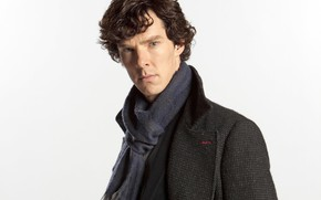 Picture look, background, scarf, Sherlock Holmes, coat, Benedict Cumberbatch, Benedict Cumberbatch, Sherlock, Sherlock, Sherlock BBC, Sherlock …