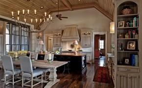 Picture Villa, interior, kitchen, dining room, Neubauer