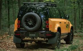 Picture power, jeep, SUV, exterior, Land Rover Defender, 2022, Land Rover Defender 110 Trophy Edition, forest …