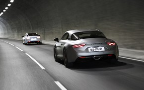 Picture coupe, the tunnel, Alpine, 2019, A110S