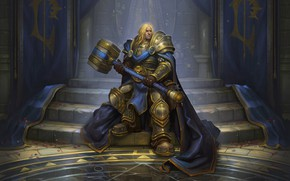 Picture Warcraft, Blizzard, Paladin, Arthas, Illustration, Eric Braddock, Characters, Game Art, by Eric Braddock, Crown Prince …