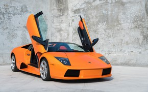 Picture Orange, Scissor doors, Lamborghini Murcielago Roadster