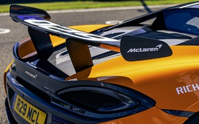 Picture coupe, McLaren, wing, 2020, V8 twin-turbo, 620R, 620 HP, 3.8 L.