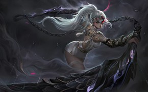 Picture Girl, The game, Blonde, Chain, Style, Girl, Fantasy, Art, Art, Style, Fiction, Fiction, Blonde, Akali, …
