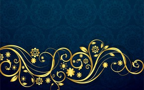 Picture pattern, texture, ornament, blue background