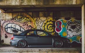Picture car, Subaru, Impreza, graffiti