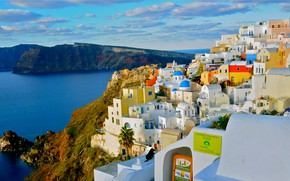Picture home, Santorini, Greece, slope