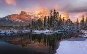 Wallpaper mountains, nature, lake, morning