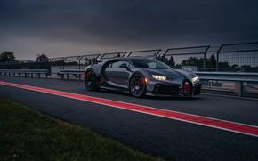 Picture asphalt, the fence, Bugatti, Chiron, 2020, Chiron Pur Sport