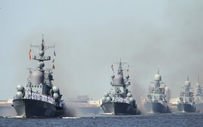 Picture ships, parade, sailors