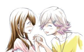 Picture girl, guy, two, Tsuki ga Kirei