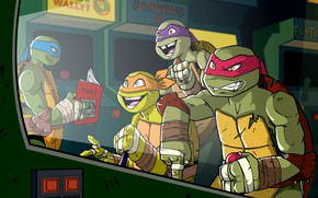 Picture Figure, Art, Rafael, TMNT, Raphael, Leonardo, Donatello, Donatello, Leonardo, Mickey, Michelangelo, Teenage Mutant Ninja Turtles, …