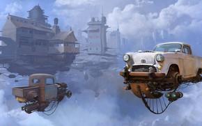 Picture The sky, Auto, Figure, Machine, The world, World, Fantasy, Sky, Car, Art, Art, Auto, Fiction, …