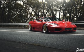 Picture Ferrari, Red, Car, Road