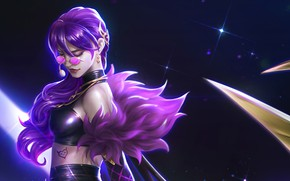 Picture girl, glasses, Evelynn, League Of Legends