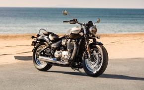 Picture Landscape, Bike, Triumph, Bonneville Speedmaster